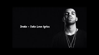 FAKE LOVE - DRAKE karaoke version ( no vocal ) lyric instrumental