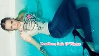 getlinkyoutube.com-Wetlook - Soaked Jeans, Leather, Ink & Water