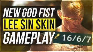 LEE IS A GOD?! | NEW LEGENDARY GOD FIST LEE SIN GAMEPLAY - League of Legends