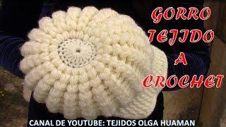 getlinkyoutube.com-Gorra con visera tejido a gancho fácil y rápido para cualquier edad