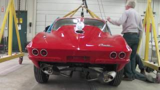 getlinkyoutube.com-1963 Corvette Split Window Frame Up Restoration