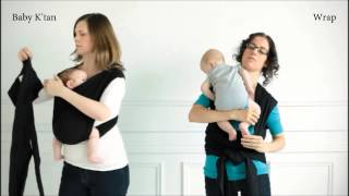 getlinkyoutube.com-The Baby K'tan Baby Carrier vs the Baby Wrap