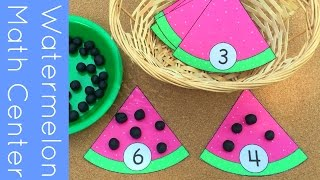 getlinkyoutube.com-Watermelon Math Center For Preschool and Kindergarten