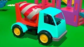 getlinkyoutube.com-Cartoni animati in italiano - Costruire una betoniera e imparare a contare