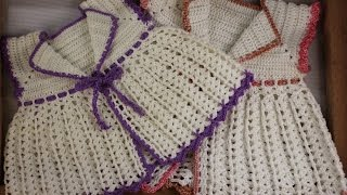 getlinkyoutube.com-Crochet a lovely baby lace jacket (Advanced level)