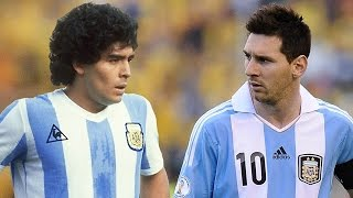 getlinkyoutube.com-Messi Vs Maradona - Best Free Kick Battle | 1080p HD