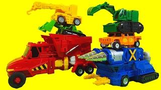 getlinkyoutube.com-헬로카봇 하이퍼빌디언 카봇 6단합체 장난감 스타블래스터 프라우드제트 크랜  듀크 변신 중장비 자동차 로봇