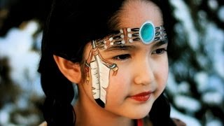 getlinkyoutube.com-Native Indian American girl - Pocahontas face painting & makeup tutorial