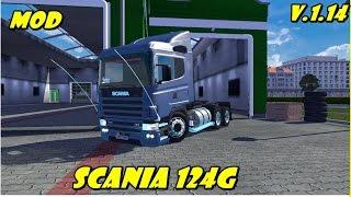 Euro truck Simulator 2 - mod scania 124 g Bicuda e Frontal Com Varios Acessórios