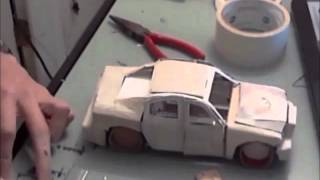 getlinkyoutube.com-Building a Model Car Made of Paper (Time Lapse)