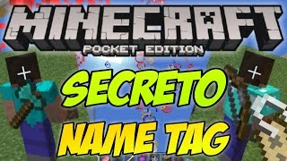 getlinkyoutube.com-Secreto De NameTag Minecraft PE 1.0 / Truco Epico MCPE