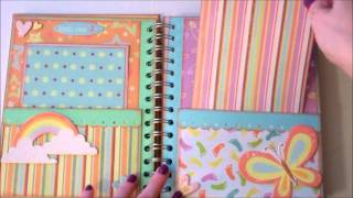 getlinkyoutube.com-Faith Abigail Designs - Baby Steps Pocket Page Mini Album