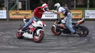getlinkyoutube.com-Автоэкзотика 2013 - 4. crazy bike stunts мото трюки байкеров с девушкой