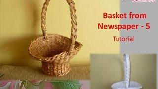 D.I.Y - Basket from Newspaper 5 - Tutorial