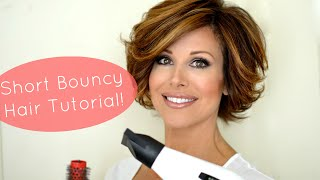 getlinkyoutube.com-Bouncy Short Hair Tutorial