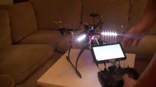 getlinkyoutube.com-Dron F450 APM 2.6 +Gimbal + FPV 600mw