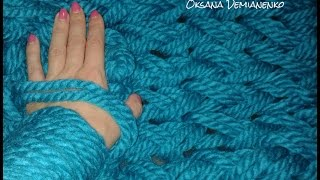 getlinkyoutube.com-Как связать снуд (шарф, хомут) на руках