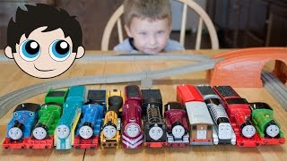 getlinkyoutube.com-Thomas and Friends TrackMaster Train Collection Fastest Engine Competition - Kinder Playtime