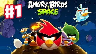 getlinkyoutube.com-Angry Birds Space - Gameplay Walkthrough Part 1 - Pig Bang Level Teaser
