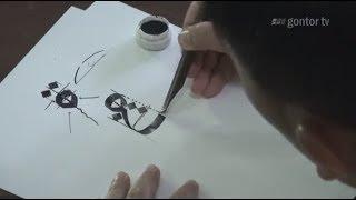 getlinkyoutube.com-Eps. 5 Part 4  - Belajar Kaligrafi Cara Menulis Huruf Ha'  ( ح ) Khat Riqah    Ust Muhammad Nur Lc