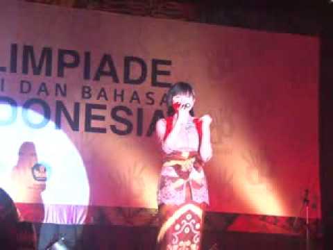 OSEBI 2012 Juara 1 Lomba Menyanyi - Nixie Sapphira - Kharisma Bangsa , Tangerang