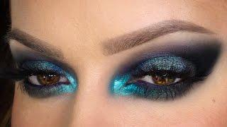 getlinkyoutube.com-Vivid Smoky Blue Party MakeUp Festive Season | Shonagh Scott | Simple | Sponsored