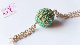 getlinkyoutube.com-DIY Tutorial Agape Bead (beaded bead) + Auguri di Natale con la mia brutta faccia :p