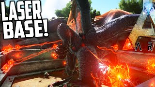 getlinkyoutube.com-Ark Survival Evolved - Photon Cannon Base VS Dragon, BroodMother, Bosses (Ark Gameplay)