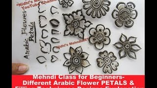 getlinkyoutube.com-Mehndi Class for Beginners- Different Arabic Flower PETALS & Filling Techniques Designs Explanation