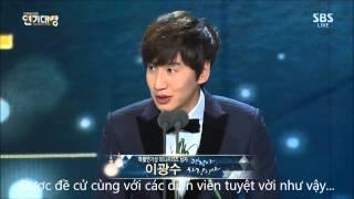 getlinkyoutube.com-[Vietsub] Lee Kwang Soo tại SBS Drama Award 2014