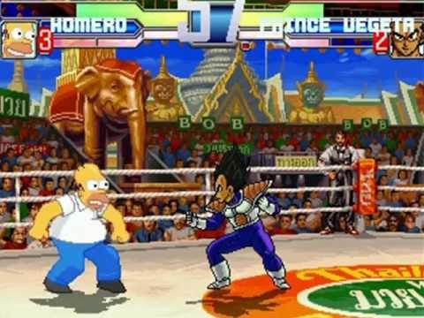 PC_Mugen: Homero vs. Vegeta by Stig87