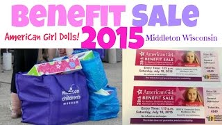 THE AMERIAN GIRL DOLL BENEFIT SALE 2015!!!!!!!