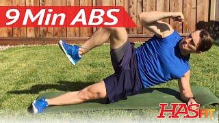 9 Min Ab Workout Routine w/ Coach Kozak - HASfit Ab Workouts Exercises