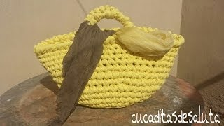 CAPAZO A TRAPILLO PASO PASO !!TUTORIAL DIY ¡¡ / Basket of Trapillo step by step.