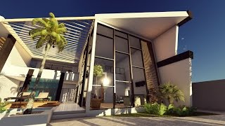 getlinkyoutube.com-LUMION 6 3D Render - Sea House Design