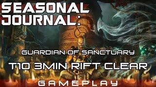 getlinkyoutube.com-[Diablo 3] S4 Seasonal Journal: Guardian of Sanctuary (T10 3min Rift Clear)