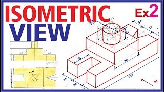 (Hindi) Isometric Projection Example 2 #Engineering Drawing