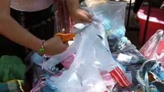 Reciclado de bolsas de plástico para tejido-Ecotecnia 01
