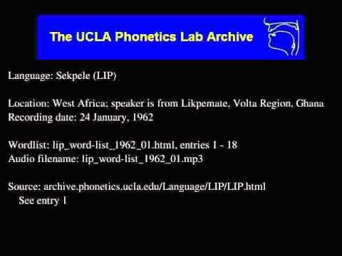 Sekpele audio: lip_word-list_1962_01