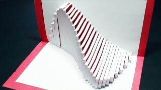 getlinkyoutube.com-How to make a Wave Pop Up Card | FREE Template - (Kirigami 3D) Ocean Wave Greeting Card!