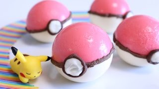 getlinkyoutube.com-How to make Edible Poké Ball Pudding ~Pokémon GO