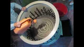 Перосъемная центрифуга для ощипки гусей, индеек и кур