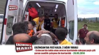 Erzincan'da Takla Atan Araçta Can Pazarı Yaşandı