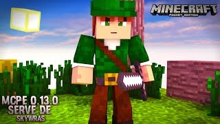 getlinkyoutube.com-Minecraft PE 0.13.1 - NOVO SERVIDOR DE SKYWARS LIFEBOAT / LBSG (POCKET EDITION)