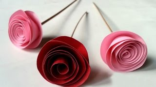 getlinkyoutube.com-DIY Easy Rolled Paper Roses for Mothers Day, Birthday Gift, Wedding Flowers or Valentines Day