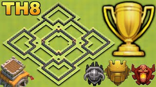 getlinkyoutube.com-Clash of Clans - Best Town hall 8 (Th8) Trophy Base 2016!