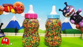 getlinkyoutube.com-巨大哺乳瓶でアンパンマンの仲間たちが集合!❤ アニメ&おもちゃ  animekids アニメきっず animation Anpanman Toys