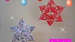 getlinkyoutube.com-MANUALIDADES:Estrella Colgante 3D