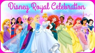getlinkyoutube.com-♡ Disney Princess Elsa Anna Cinderella Ariel Belle Rapunzel & Jasmine Royal Celebration