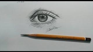 getlinkyoutube.com-cách vẽ  mắt đơn giản bằng chì 6b ._. _ how to draw an eye _ dP Truong